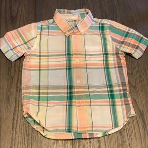 GAP toddler boy short sleeve button up size 3T